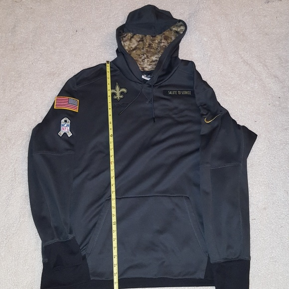 official photos b4c6e 696ee New Orleans Saints, Salute to Service Hoodie